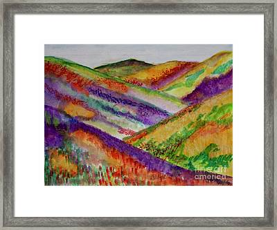 The Hills Are Alive Framed Print by Kim Nelson