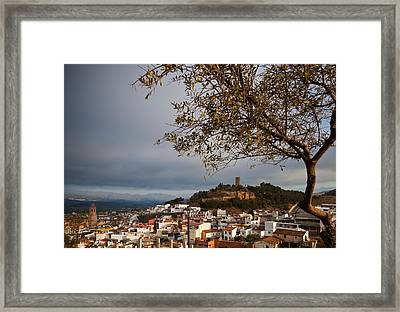 The Hilltop Castle And Town Of Valez Framed Print by Panoramic Images