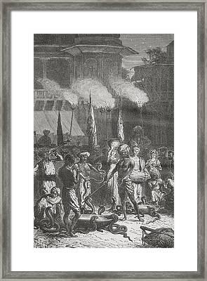 The Hindu Festival Of Nag Panchami, The Framed Print