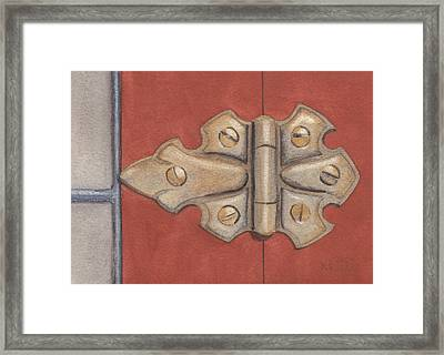 The Hinge Framed Print by Ken Powers