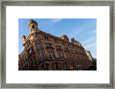 The Hippodrome Casino - A Remarkable Building On London Famous Leicester Square Framed Print by Georgia Mizuleva