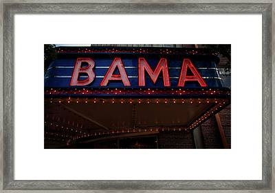 The Historic Bama Theatre Framed Print by Mountain Dreams