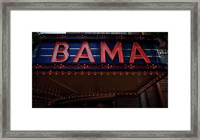 The Historic Bama Theatre Framed Print
