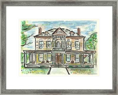 The Historic Dayton House Framed Print by Matt Gaudian