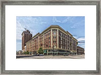 The Historic Frederick Building Of Huntington West Virginia Framed Print