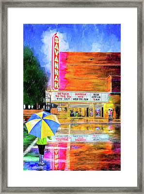 Framed Print featuring the painting The Historic Savannah Theatre by Mark Tisdale