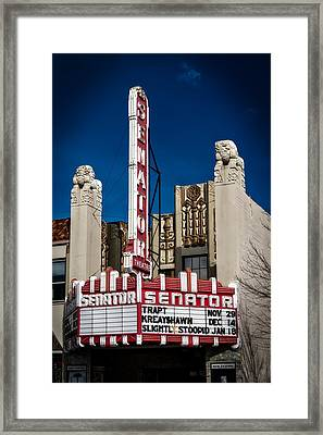 The Historic Senator Theatre Framed Print