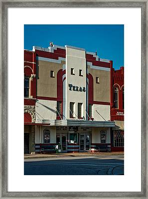 The Historic Texas Theatre Framed Print by Mountain Dreams