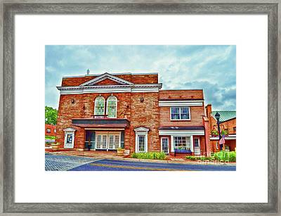 Framed Print featuring the photograph The Historic Wayne Theatre - Waynesboro Virginia - Art Of The Small Town by Kerri Farley