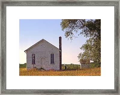 The History Lesson - 1878 Michigan Schoolhouse Framed Print by Chrystyne Novack