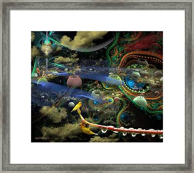 The History Of The Bioluminoidal Fractalization Process Framed Print