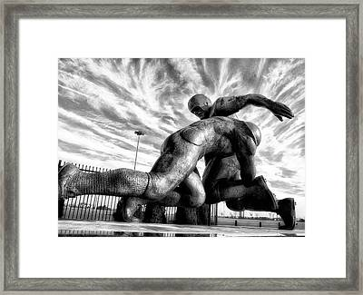 The Hit Framed Print by Bill Cannon