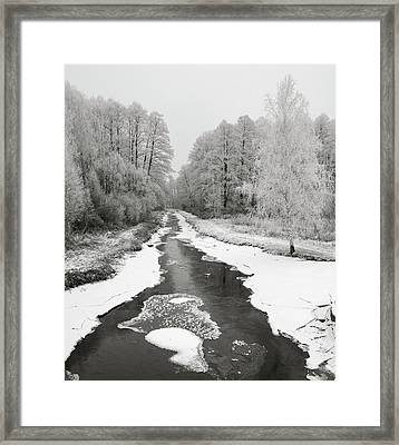 The Hoarfrost. Kuchynivka, 2014. Framed Print
