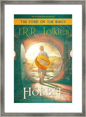 The Hobbit Lord Of The Rings Book Cover Movie Poster Art 1 Framed Print by Nishanth Gopinathan