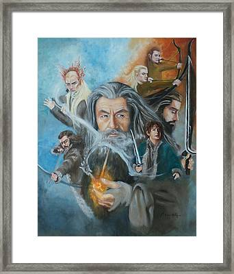 The Hobbit- The Desolation Of Smaug  Framed Print by Marcela Rogel de Pepper