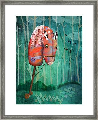 The Hobby Horse Framed Print