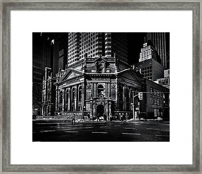 Framed Print featuring the photograph The Hockey Hall Of Fame Toronto Canada by Brian Carson