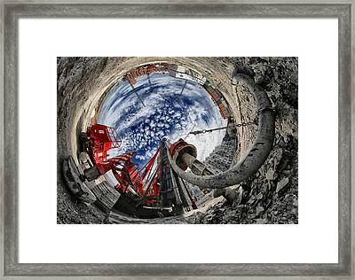 The Hole Framed Print by Francois Casanova