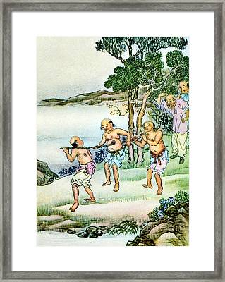 The Hole-in-the-chest People, 19th Framed Print