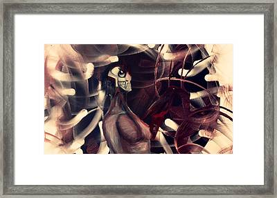 The Hole Of Foolish Zone Framed Print