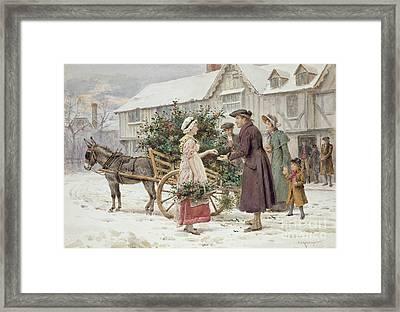 The Holly Cart Framed Print by George Goodwin Kilburne