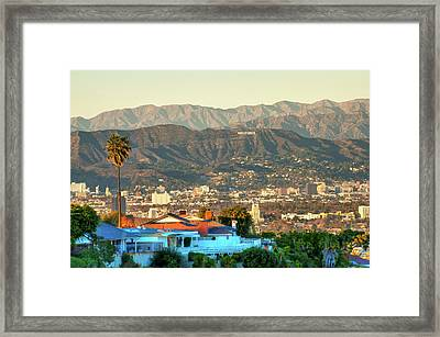 The Hollywood Hills Urban Landscape - Los Angeles California Framed Print by Gregory Ballos