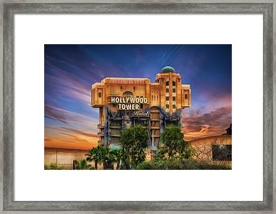 The Hollywood Tower Hotel Disneyland Framed Print