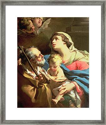 The Holy Family Framed Print by Gaetano Gandolfi