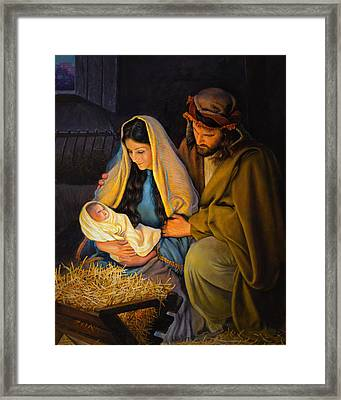 The Holy Family Framed Print by Greg Olsen