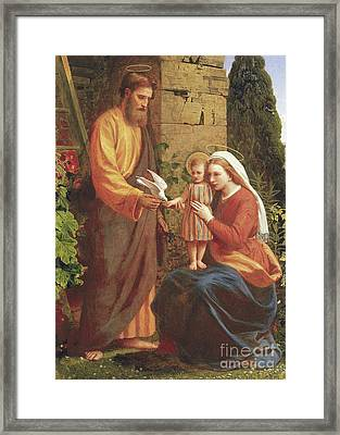 The Holy Family Framed Print by James Collinson