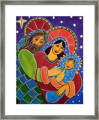 Framed Print featuring the painting The Holy Family by Jan Oliver-Schultz