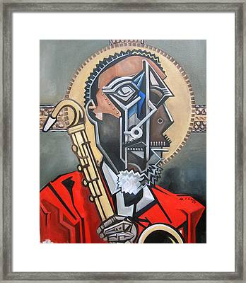 The Holy Ghost Framed Print by Martel Chapman