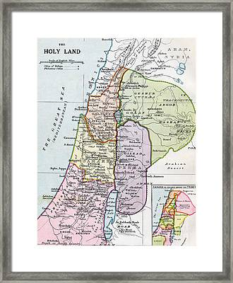 The Holy Land In Biblical Times Framed Print by English School
