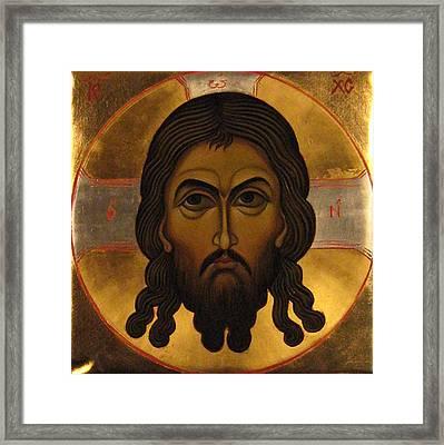 The Holy Mandylion Of Jesus Christ Framed Print