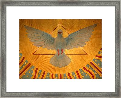 The Holy Spirit Framed Print by American School