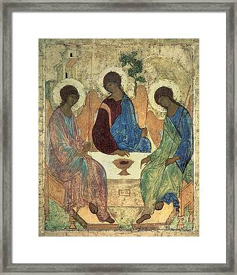 The Holy Trinity Framed Print by Andrei Rublev
