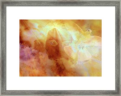 Framed Print featuring the painting The Holy Trinity by Valerie Anne Kelly