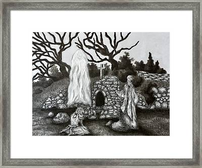 The Holy Well Framed Print by Gabriel Cajina