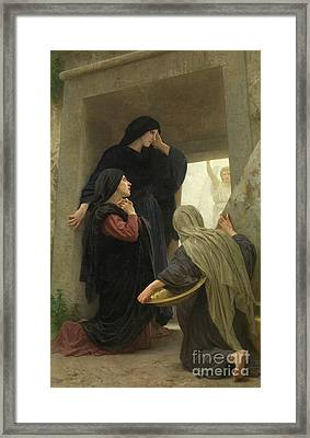 The Holy Women At The Tomb Of Christ Framed Print