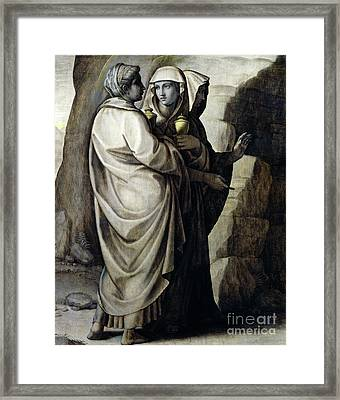 The Holy Women At The Tomb Framed Print
