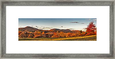 The Holyoke Range In Autumn Color From Mount Pollux. Framed Print