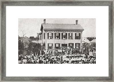 The Home Of Abraham Lincoln Framed Print