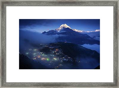 The Home Of Mountain Spirits Framed Print