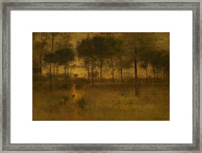 The Home Of The Heron Framed Print