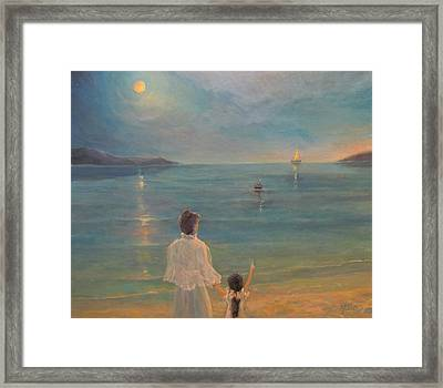 Framed Print featuring the painting The Homecoming by Donna Tucker