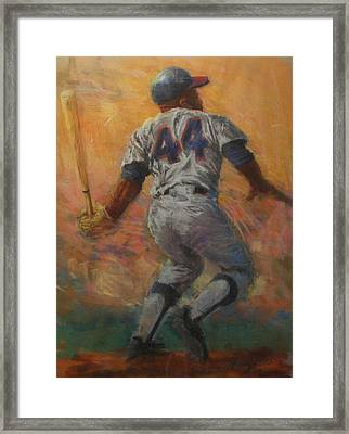 The Homerun King Framed Print by Tom Forgione