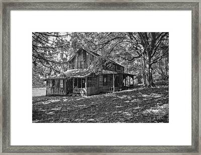 The Homestead Bw Framed Print by Phyllis Taylor