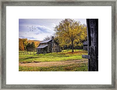 The Parker-hickman Homestead Framed Print by Priscilla Burgers