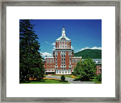 The Homestead Resort Framed Print