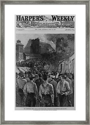 The Homestead Steel Strike Riot Framed Print by Everett